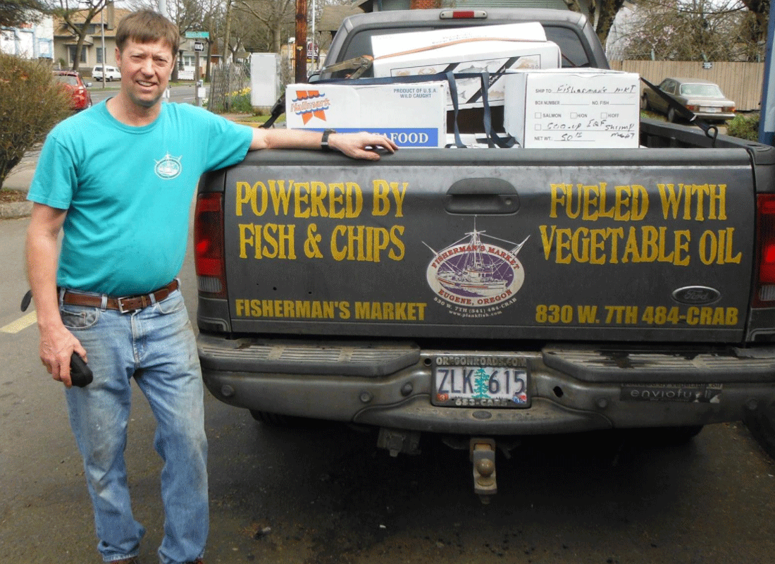 Fisherman's Market Truck Fueled by Veggie Oil