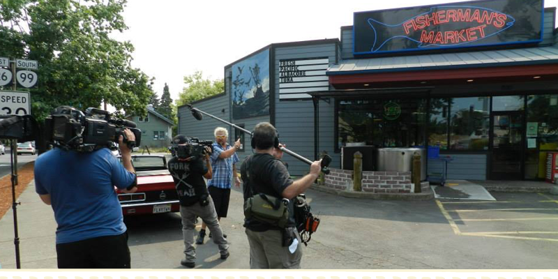 Fisherman's Market Diners, Drive-Ins and Dives camera crew