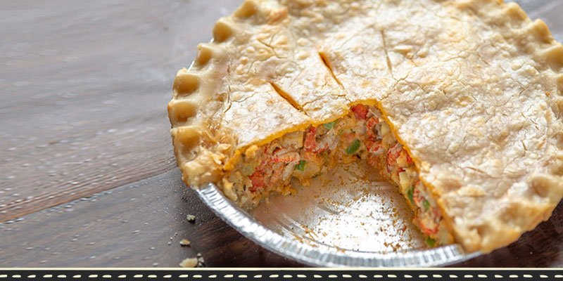 Fisherman's Market Cajun Crawfish Pie featured on Diners, Drive-Ins and Dives