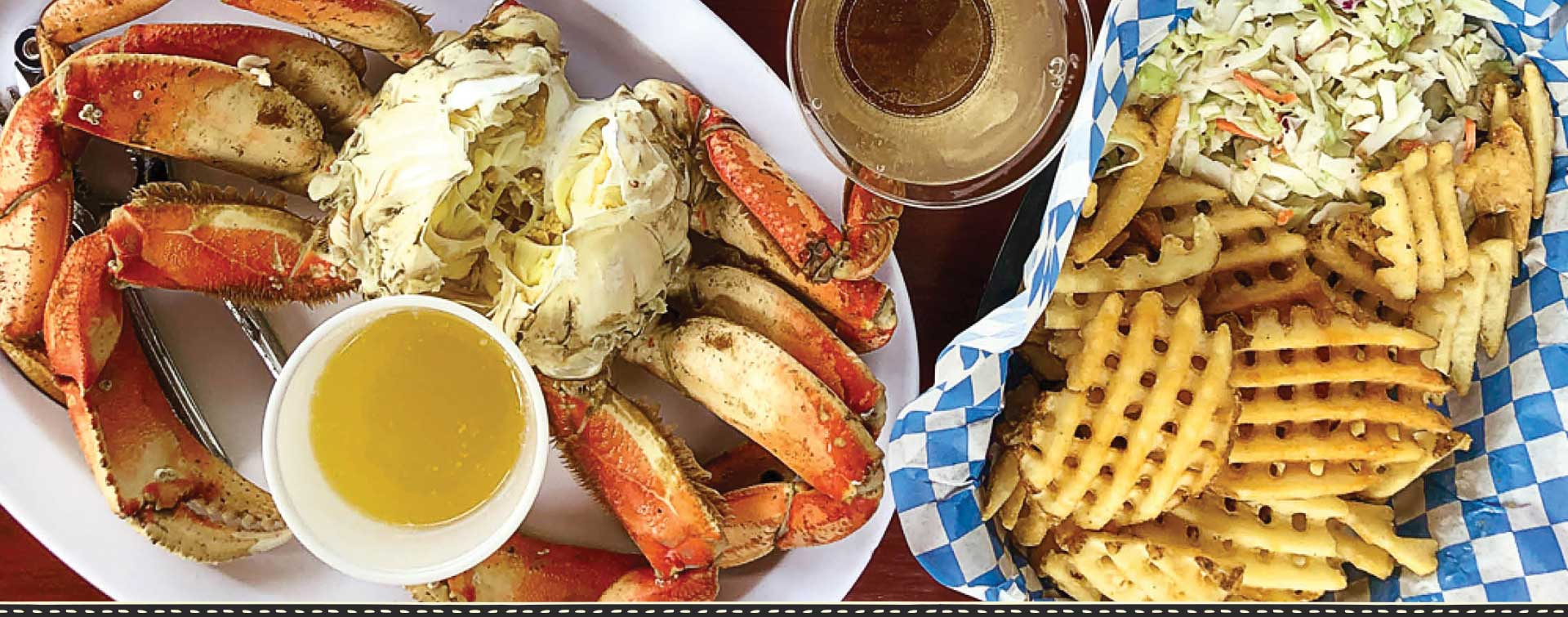 Fisherman's Market Dungeness Crab Dinner with Fries and Coleslaw