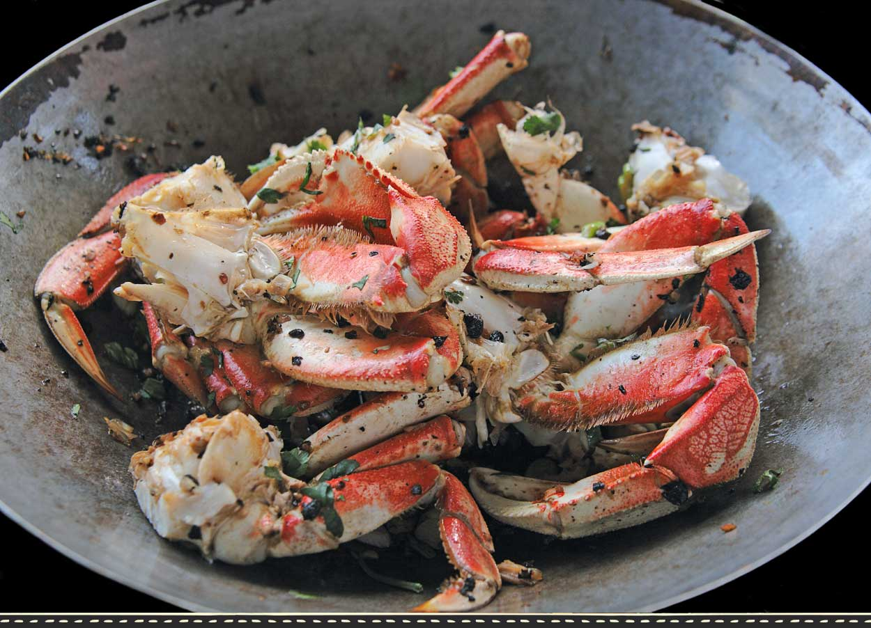 Fisherman's Market Dungeness Crab in Wok