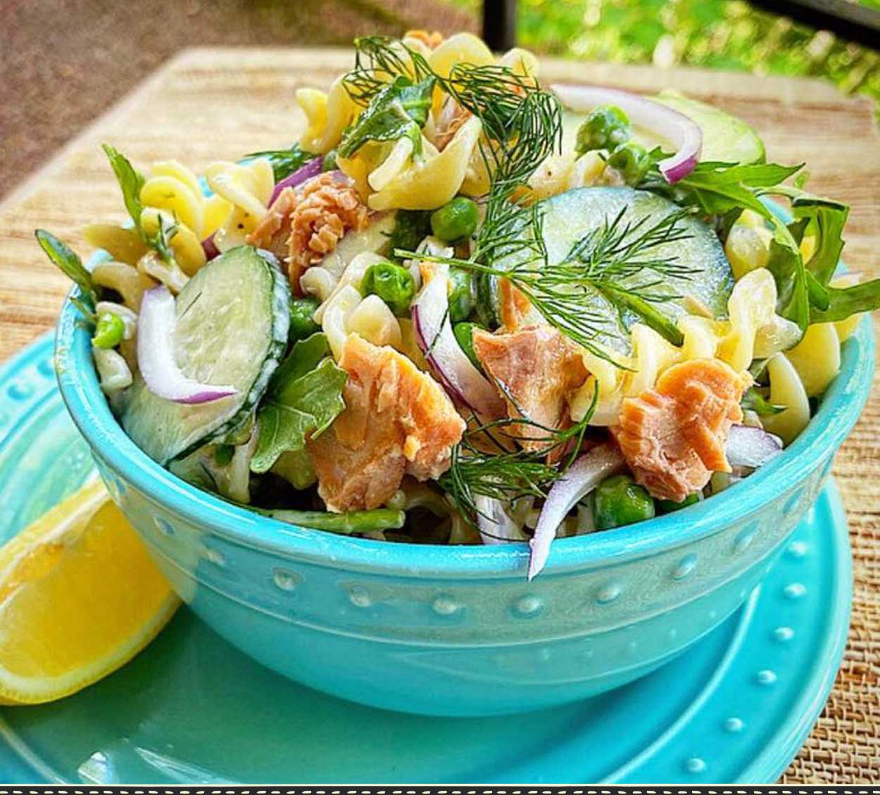 Fisherman's Market Pasta Salad made with canned Albacore Tuna